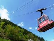Die Fahrt von Intschi nach Arni dauert 6 Minuten und überwindet dabei 700 m. Die Bahn fasst 8 Personen plus Gepäck. (Bild: Uri Tourismus)