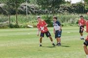 Ralph Daucourt, U17-Spieler aus Oberdorf, im Duell gegen die Italiener. (Bild: Werner Tschan/PD)