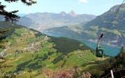 Seelisberg aus der Vogelperspektive von der Alp Weid aus.BILD NC