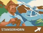 Das Schild für die Stanserhorn-Bahn