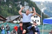 Christian Schuler kann sich zum Saisonende nochmals als Sieger feiern lassen. (Bild: schlussgang.ch)