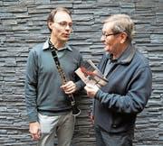 Bernhard Röthlisberger und Franz Fürling (rechts) erwecken das kleine, aber feine Festival «Klassik auf der Alp» wieder zum Leben. (Bild: Romano Cuonz (Melchsee-Frutt, 15. Dezember 2017))