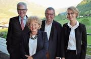 Die Neuen im Vorstand der Spitex Nidwalden (von links): Philipp Müller, Lilian Lauterburg, Peter Meyer sowie Mira Schüpfer. (Bild: Birgit Scheidegger (Stans, 16. Mai 2017))