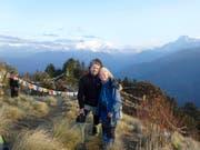 Ruth und Walter Odermatt einen Tag vor dem grossen Beben auf ihrer Trekkingtour vor dem Annapurna. (Bild: pd)