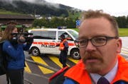Laut Polizeisprecher David Mynall gibt es vorerst keine Meldungen über Verletzte. (Bild: Geri Holdener, Bote der Urschweiz)