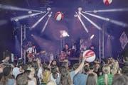 Die Band HebDiDe bei ihrem Auftritt am letztjährigen Lakeside Festival. (Bild: André A. Niederberger (Hergiswil, 10. Juli 2016))