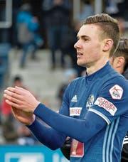 FCL-Jungprofi Silvan Sidler bejubelt am Sonntag den 1:0-Sieg über Basel. (Bild: Martin Meienberger/Freshfocus)