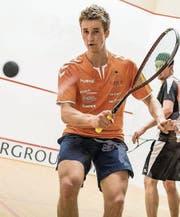 Startet am Sekisui Open mit einer Wild Card: der 26-jährige Krienser Patrick Miescher. (Bild: Stefan Kleiser (Vaduz, 2. März 2017))