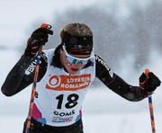 Lea Fischer unterwegs beim Skiathlon. (Bild: PD (Goms, 1. Februar 2018))