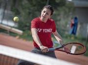 Stiess im Weltranking der Frauen (WTA) auf Rang 970 vor: die 16-jährige Kristina Milenkovic aus Sursee. (Bild: Pius Amrein (Schenkon, 6. April 2017))