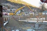 Die Baugrube des geplanten Fünfsternehotels Titlis-Palace in Engelberg. (Bild: PD)