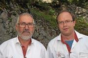 Bernhard Berchtold (links) und Mathias Ming. (Bild: Robert Hess (30. Juli 2017))