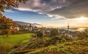 Blick vom Aussichtspunkt Guggi auf die Stadt Zug. (Bild: PD / Zug Tourismus)