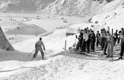 Ab den 1930er-Jahren wurden am Nätschen auch alpine Disziplinen ausgetragen. (Bild: Staatsarchiv Uri)