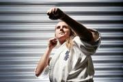 Obschon eine Einzelkämpferin, schätzt Michelle Steiner den Zusammenhalt in der Karategemeinschaft. (Bild Stefan Kaiser)