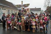 Der Familientreff Kägiswil betreibt grossen Aufwand für sein Fasnachtssujet. (Bild: Romano Cuonz (Sarnen, 8. Februar 2018)