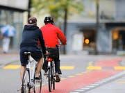 Für die Aktion «Bike to work» steigen auch Ob- und Nidwaldner Mitarbeiter aufs Velo um. (Bild Stefan Kaiser)