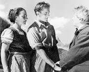 Die verfilmte Alpenromanze um «Bergführer Lorenz» (Mitte) kam beim Publikum nicht wirklich an. (Bild: PD (1943))