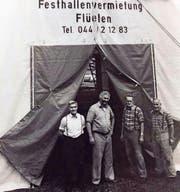 Josef Schilter senior (Zweiter von links) begann 1977 mit einem einzigen Festzelt. (Bilder: PD)