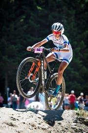 Neu ohne Stöckli-Aufdruck auf dem Bike: Jolanda Neff. (Bild: Gian Ehrenzeller/Keystone (Lenzerheide, 10. Juli 2016))