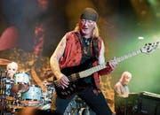 Immer noch aktiv: Deep Purple, hier mit Bassist Roger Glover im Vordergrund. (Bild: Keystone (19. Mai 2017))
