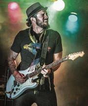 Nate Hancock bei seiner energiegeladenen Live-Show im Viper-Room in Hollywood. (Bild: Natascha Dittli)