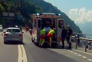 Der erste Unfall ereignete sich unmittelbar südlich des Mosi-Tunnels. (Bild: Geri Holdener, Bote der Urschweiz)