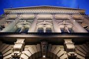 Die beleuchtete Fassade des Bundeshaus (Symbolbild). (Bild: Keystone)