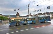 Der «Nachtstern»-Gelenkbus macht bald wieder in mehreren Nidwaldner Gemeinden Halt. (Bild: PD)