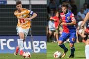 Cedric Itten (links) ist Luzerns unermüdlicher Kämpfer, Renato Steffen ist Basels spektakulärer Schütze. (Bild: Andy Müller/Freshfocus)