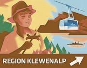 Die Tafel für die Region Klewenalp.