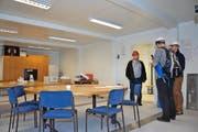 Auch das Lehrerzimmer im neuen Schulprovisorium ist bereits eingerichtet. (Bild Daniel Regli)