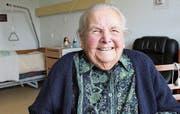Vergnügt und mit hintergründigem Humor erzählt Maria Huwiler-Stocker von ihrem langen Leben. (Archivbild Luzerner Zeitung)