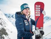 Mit zuversichtlichem Blick in die Zukunft: Jessica Keiser visiert den Aufstieg ins schweizerische A-Kader an. (Bild: Manuela Jans-Koch (Titlis, 28. Januar 2018))
