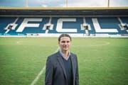 Der neue FCL-Trainer Gerardo Seoane am Dienstag in der Swisspor-Arena. (Bild: Pius Amrein (Luzern, 9. Januar 2018))