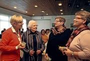 Sie gründeten das Frauenzmorgä mit (von links): Ruth Diller-von Ah, Annelies Portmann-Läubli, Käthy Burch-Spichtig und Trudy Odermatt-Spichtig. Bild: Marion Wannemacher (Giswil, 12. November 2016)