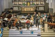 In der Pfarrkirche St. Martin in Altdorf wurde den Zuhörern am Samstag ein ebenso berührendes wie mitreissendes Musikprogramm geboten. (Bild: F. X. Brun (Altdorf, 16. Dezember 2017))