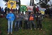 Die Bechergewinner der Sektion Uri (von links) Tino Walker, Alex Russi, Paul Aschwanden, Thomas Wipfli und Armin Achermann (Bild: Urs Hanhart)