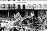 Das Hotel Kreuz war nach dem Unwetter während neun Jahren geschlossen. (Bild: Josef Reinhard)