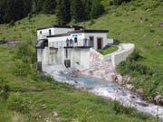 So könnte sich dereinst die Wasserfassung des Kraftwerks Gurtnellen präsentieren. (Bild: Visualisierung PD)