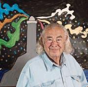 Künstler Ted Scapa malt oft Leuchttürme. In der Schweiz wurde er als TV-Moderator von «Spielhaus» bekannt. (Bild: PD (Bern, 10. März 2017))