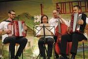 Das Quartett «Hölzix» mit Annie Camenzind liess Kompositionen von Altmeistern aufleben. (Bild: Rosmarie Berlinger (Wolfenschiessen, 3. März 2018))