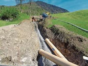 Impressionen von der 1. Etappe der Sanierung der Wiesenbergstrasse in Dallenwil. (Bild: PD)