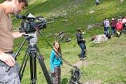 Die Filmcrew bei den Dreharbeiten auf der Melchsee-Frutt. (Bild Marion Wannemacher)