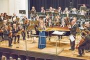Klaviersolistin Annina Röllin wurde frenetisch gefeiert. (Bild: André A. Niederberger (Stans, 20. Januar 2018))