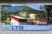 Blick in die Zukunft: die aktuelle Beschilderung an der Talstation in Lungern. (Bild: Christoph Riebli)