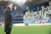 Der neue FCL-Trainer Gerardo Seoane ist zufrieden mit seiner Mannschaft: «Bei jedem Spieler stimmt die Einstellung.» (Bild: Boris Bürgisser (Luzern, 3. Februar 2018))