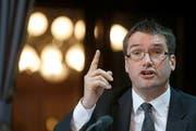 Christian Levrat: «Ich will verhindern, dass es eine automatische Bundesratsmehrheit von FDP und SVP gibt.» (Bild: Keystone/Peter Klaunzer)