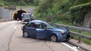 Die Unfallstelle kurz nach dem Arisdorftunnel. (Bild Kapo BL)