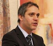 Parteipräsident Pascal Blöchlinger. (Bild: Paul Gwerder (8. März 2018))